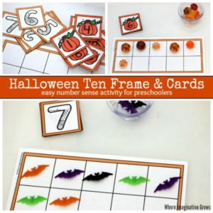 Halloween Ten Frame & Number Cards! Free Printable