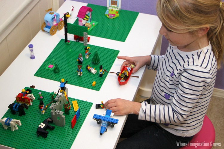 Lego Calm Down Corner for Kids from an Easy DIY Lego Table