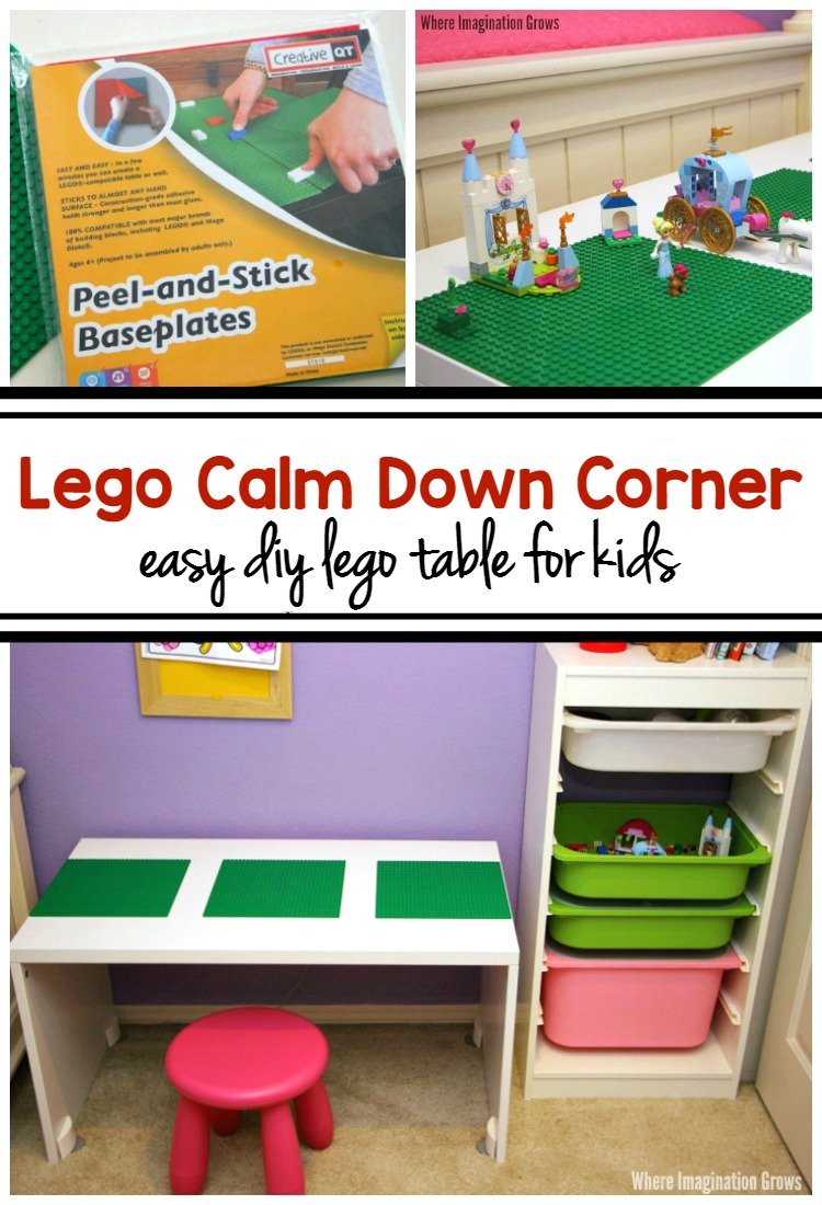 Calm Down Corner for Kids with and Easy DIY LEGO Table
