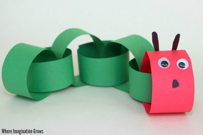 Paper Chain Caterpillar Craft For Kids