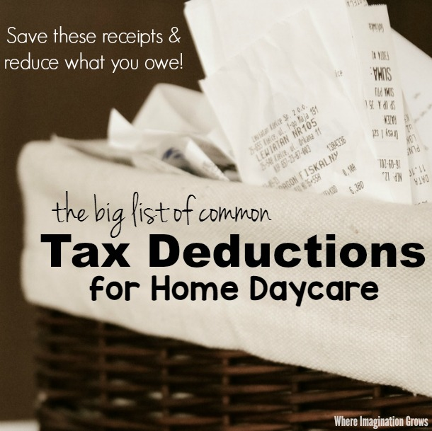 Common Tax Deductions For Home Daycare Providers A Checklist Of Write Offs That Is