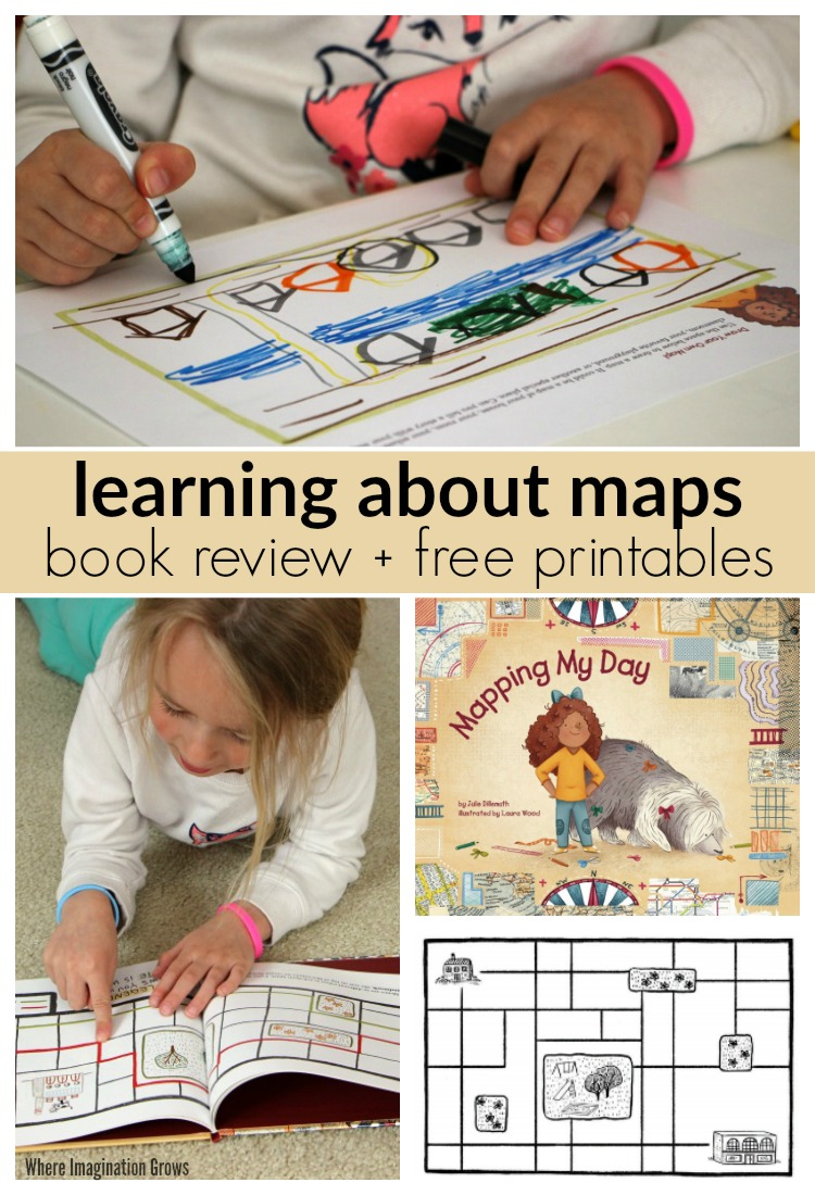 Learning about maps! Mapping My Day book review and free printables for kids
