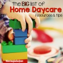 Big list of Home Daycare Resources