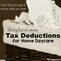 Tax Deductions for Home Daycare
